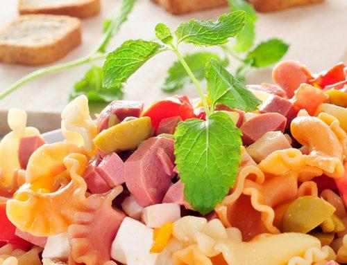 Insalata di pasta  fredda con wurstel