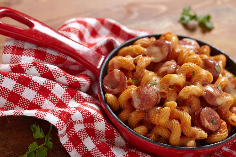 pasta con wurstel