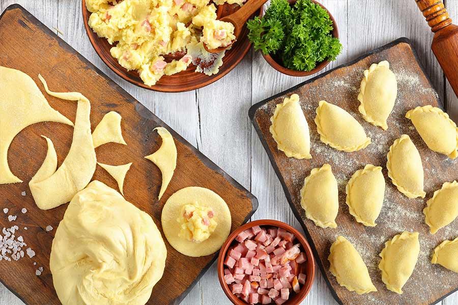 ricetta agnolotti patate prosciutto