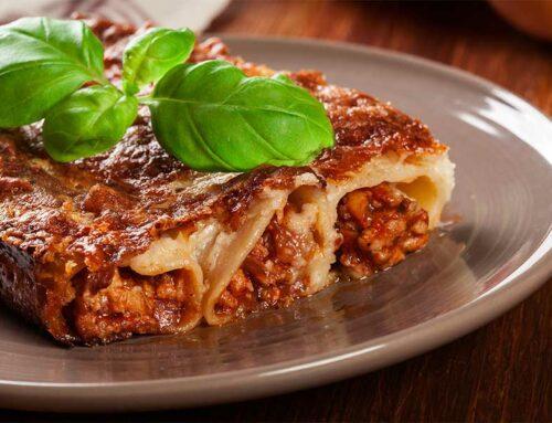 Cannelloni saporiti con carne e prosciutto