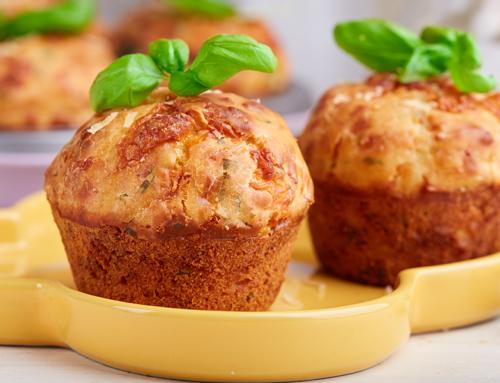 Muffin al prosciutto cotto e formaggio