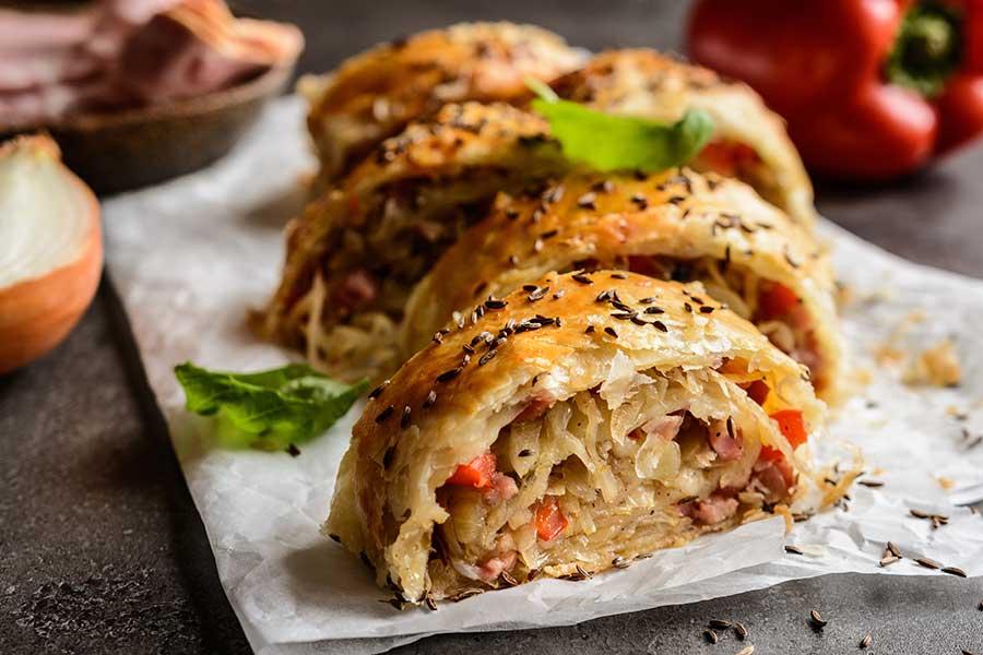 ricetta strudel wurstel scarlino e crauti