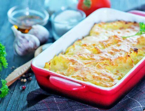 Tortino di patate con prosciutto cotto e fontina