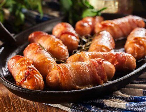 Bocconcini di wurstel e pancetta