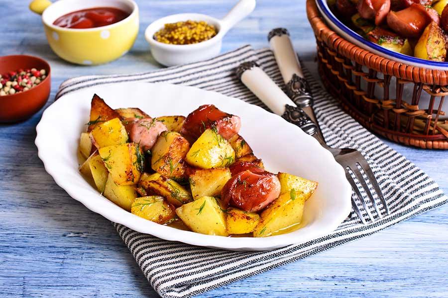 Wurstel scarlino e patate in padella - Ricette con wurstel