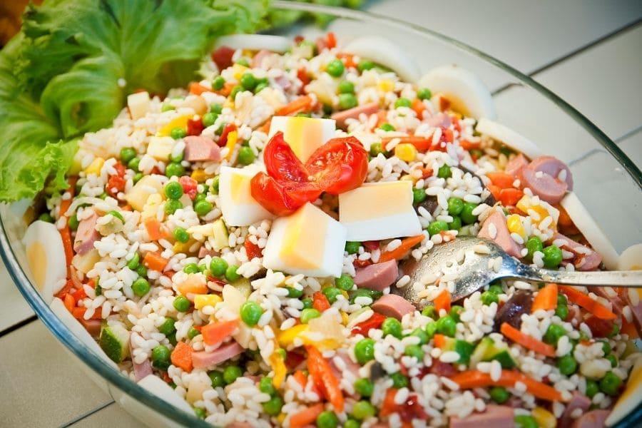 insalata di riso con wurstel scarlino 1